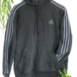 Adidas hoodie with stripes and logo